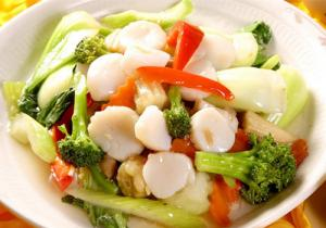 Scallops Mixed Vegetable